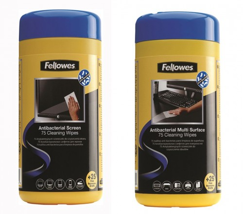 Fellowes Antibacterial Surface Cleaning Wipes