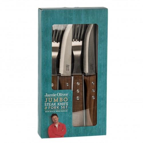 JAMIE OLIVER JUMBO STEAK KNIFE & FORK SET