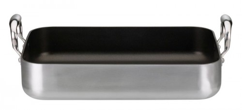 ELO 35 x 24cm Brushed Aluminium Roaster