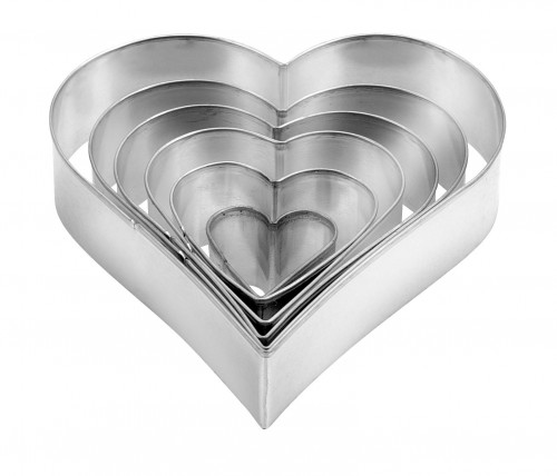 Tescoma Heart Shaped Cookie Cutters 6 Pieces DELICIA