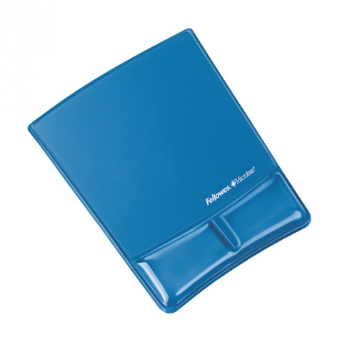 Fellowes Health - V Crystals Mouse Pad Wrist Support - Blue