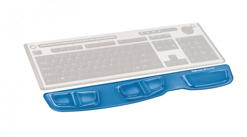 Fellowes Health - V Crystals Keyboard Palm Support - Blue