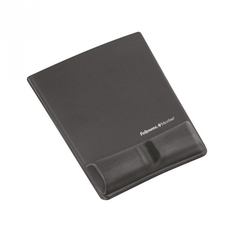 Fellowes Health - V Fabrik Mouse Pad  Wrist Support - Graphite