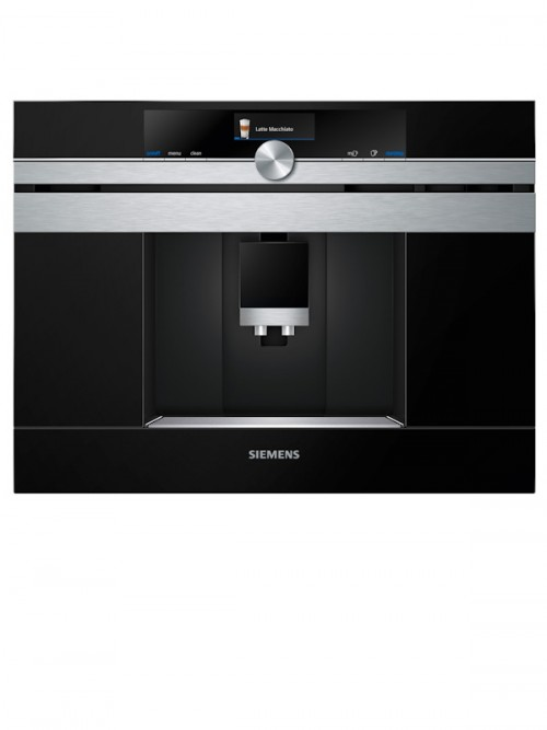 Siemens CT636LES1 iQ700 Built-in Fully Automatic Coffee Machine Black Stainless Steel