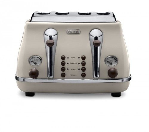 Delonghi Icona Vintage Toaster Cream and Mahogany