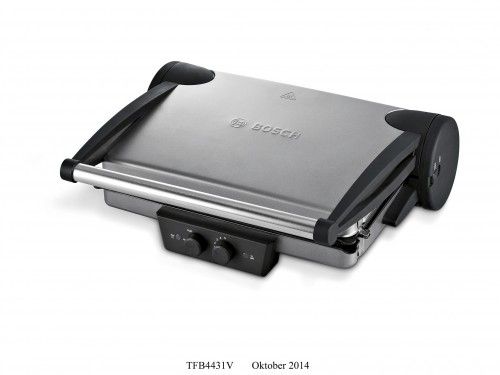 Bosch Smoke Silver/Anthracite 1800W Contact Grill