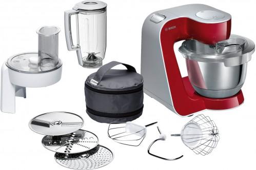 Bosch 1000W Deep Red/Silver Kitchen Machine