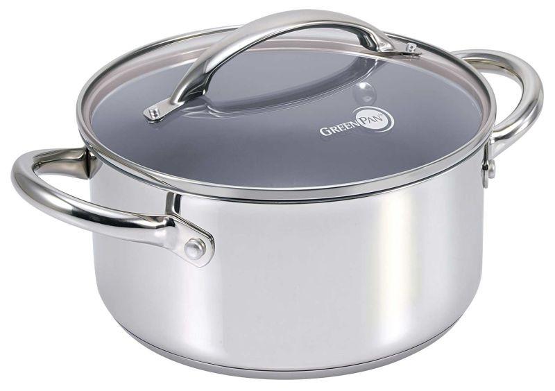 Greenpan 24cm Casserole With Lid 4 9l Greenpan Cooking