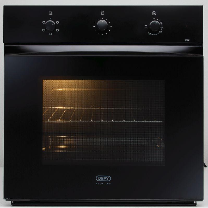 defy 600mm black eye level oven defy appliances. Black Bedroom Furniture Sets. Home Design Ideas
