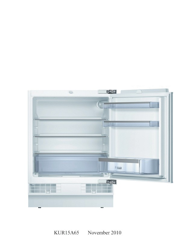 Bosch 141l built under fridge bosch appliances for Bosch kur15a65