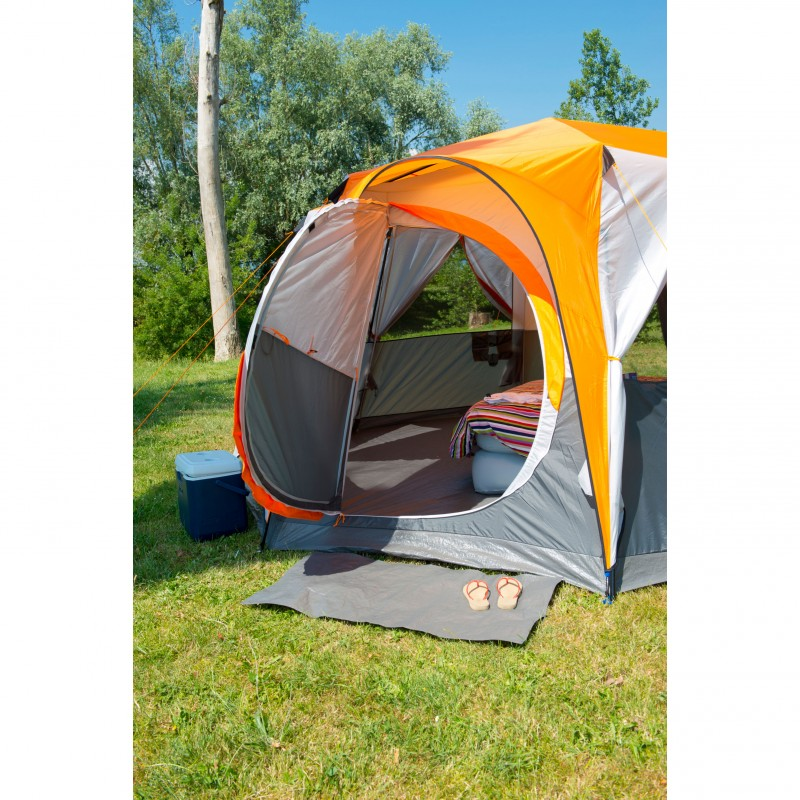 Coleman Octagon 98 Tent 8 Man With Full Rainfly Orange