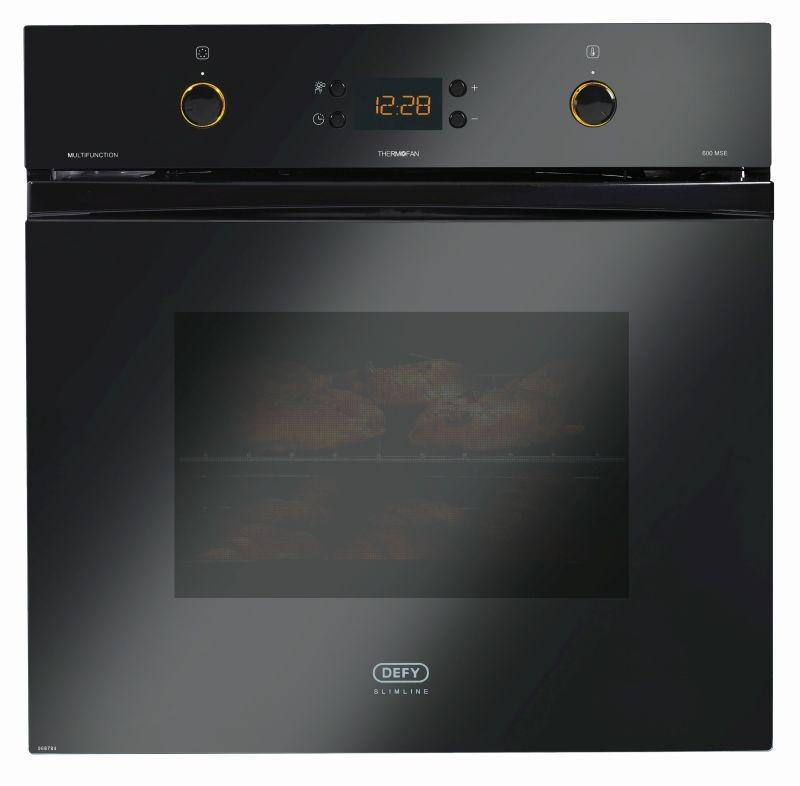 defy 600mm black multifunction eye level oven defy. Black Bedroom Furniture Sets. Home Design Ideas