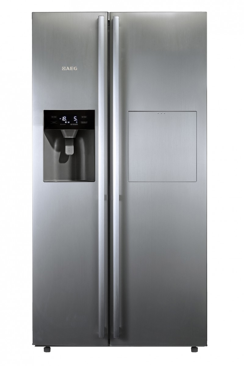Aeg 521l Side By Side Fridge With Home Bar Side By Side