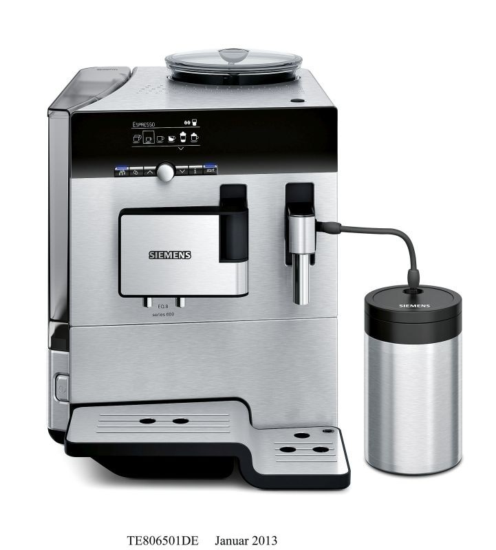 siemens stainless steel fully automatic espresso and. Black Bedroom Furniture Sets. Home Design Ideas