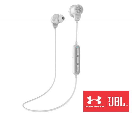 281162b647e JBL Under Armour Bluetooth White Headphones. Zoom