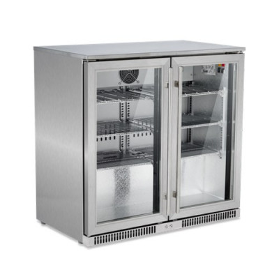 SnoMaster SD220SS Stainless Steel Two Door Alfresco Beverage Cooler