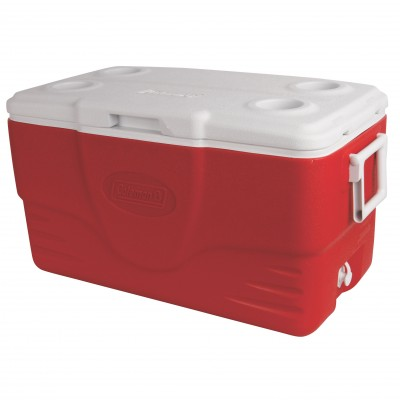 Coleman 50QT(47.3L) Cooler Red