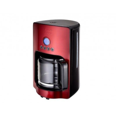 Russell Hobbs 18593 Apollo Digital 1.8L Filter Coffee Maker Legacy Red