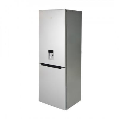 KIC KBF639MEWATER 344L Metallic Combi Fridge Freezer with Water Dispenser