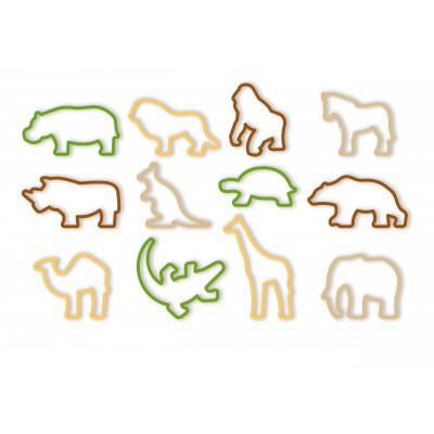 Tescoma Cookie Cutters ZOO DELICIA KIDS 12 Pieces