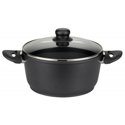 ELO 24cm Black Cookpot With Lid