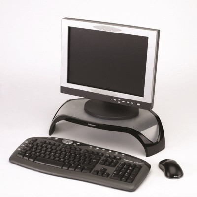 Fellowes Smart Suites Monitor Riser/Free Memory Foam Wrist Support