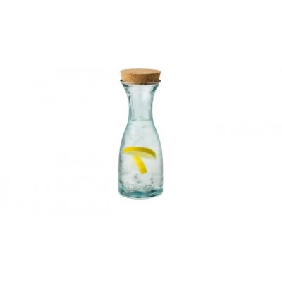 JAMIE OLIVER RECYCLE GLASS 0.8L CARAFE WITH CORKS