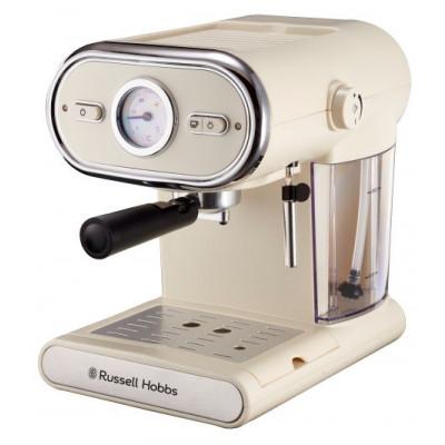 Russell Hobbs 859942 Black/Cream Vintage Espresso Maker