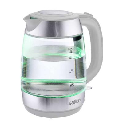 Salton 861251 1.7L White Colour Tech Glass Kettle