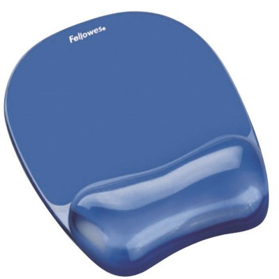 Fellowes Crystals Gel M/Pad Wrist Supp Blue