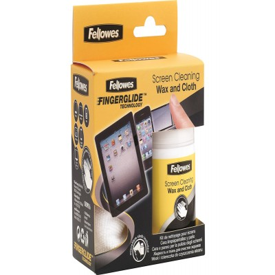 Fellowes Screen Cleaning Wax & Cloth Kit