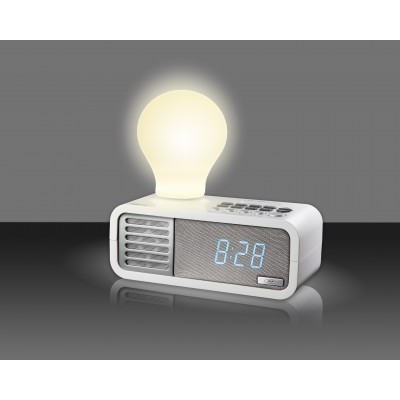 SDigital Lightyear White Clock Radio