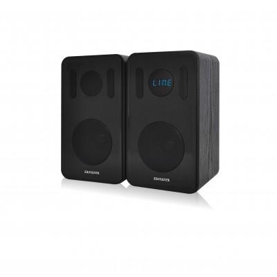 Aiwa ABDT-205B Dual Bookshelf Bluetooth Speakers