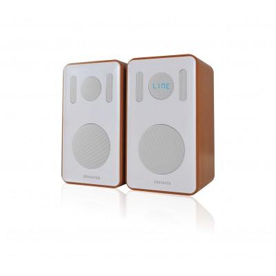 Aiwa ABDT-205W Dual Bookshelf Bluetooth Speakers