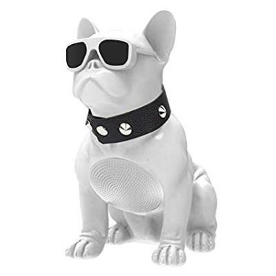 Aiwa ABR-000W French Bulldog Bluetooth Speaker - White