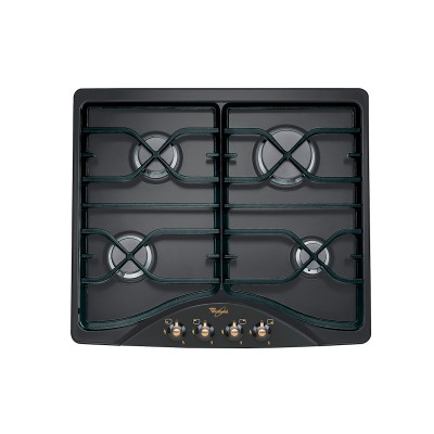 Whirlpool 600mm Black Gas Hob