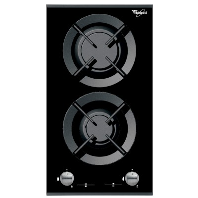 Whirlpool 300mm Black Dial Control Gas Hob