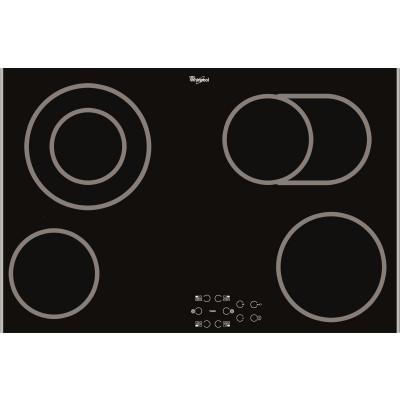 Whirlpool AKT 8360 LX  770mm Black 4 Zone Touch Control Ceramic Hob