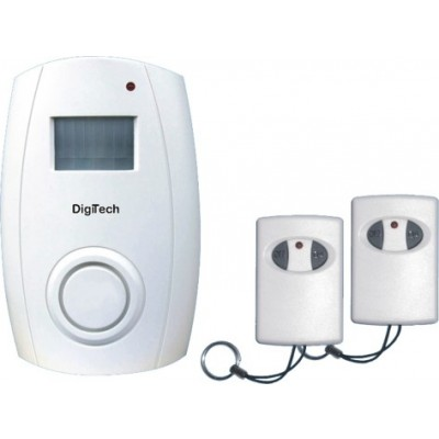 DigiTech Wireless Motion Sensor Alarm With Two Remotes