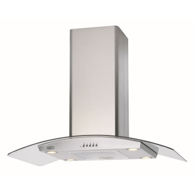 Defy 900mm Island Curved Glass Extractor