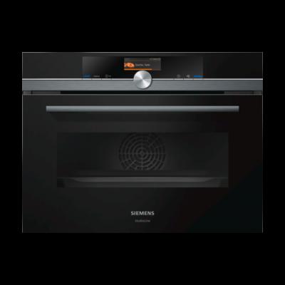 Siemens CM836GPB6 600mm Black Built In Compact Microwave