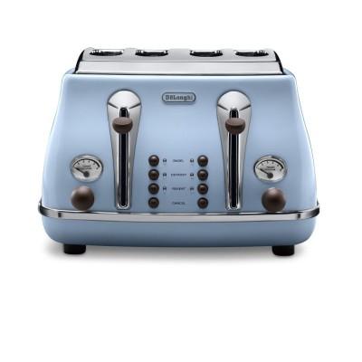 Delonghi ZA0230140021 CTOV4003.AZ 4 Slice Icona Vintage Anita Toaster