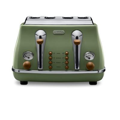 Delonghi ZA0230140020 CTOV4003.GR 4 Slice Icona Vintage Olivia Toaster