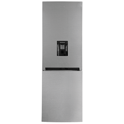 Defy DAC632 294L Satin Metallic C380 Eco Combi Fridge Freezer with Water Dispenser