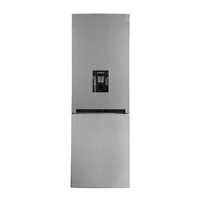 Defy DAC645 348L Satin Metallic C455 Eco WD M Combi Fridge Freezer with Water Dispenser