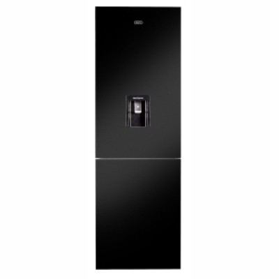 Defy DAC652 348L Black Glass C455 Eco WD G Combi Fridge Freezer