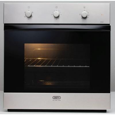 Defy DBO461 600mm Black/Stainless Steel Slimline Eye-Level Oven