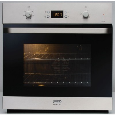 Defy 600mm Silver/Black Under Counter Oven