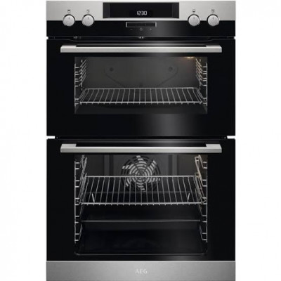 AEG DCK431110M 60cm Stainless Steel Double Oven