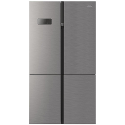 Defy DFF400 369L Satin Metallic 4 Door F890 Eco Side-by-Side Refrigerator